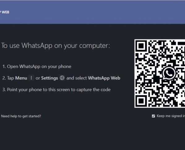 Dark mode for WhatsApp web