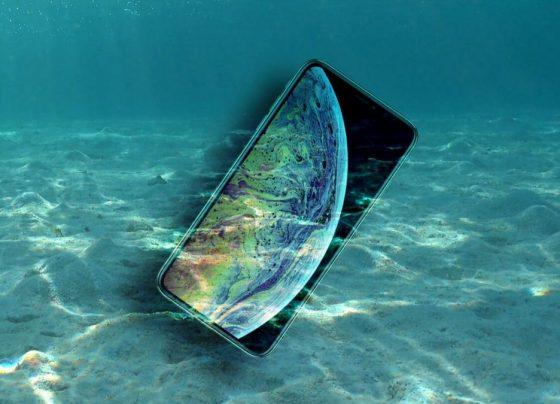 iPhone underwater