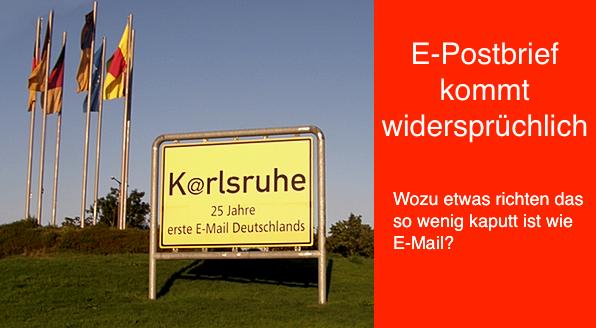 25 Jahre E-Mail, zum Gedenken an die 1. Mail aus USA nach Karlsruhe/Deutschland