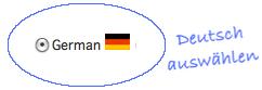 Deutsch auswählen