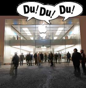 Deutschland's erstes Apple Store in München