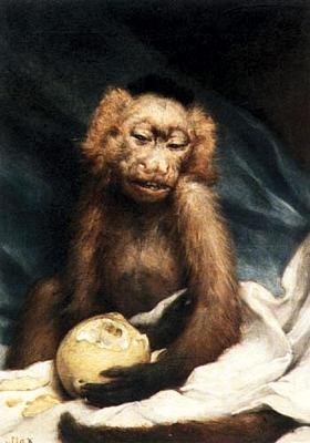 Gabriel von Max Äffchen mit Zitrone