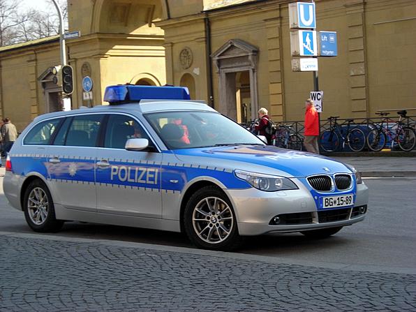 110: Streifenwagen der Bundespolizei Deutschland