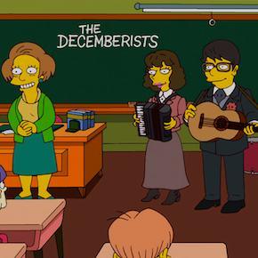 The Decemberists auf Simpsons zu sehen.