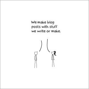 Wir machen Blogeinträge mit Sachen die wir machen