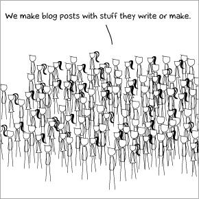 Wir machen Blogeinträge mit den Sachen die andere machen