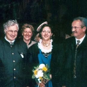 königliche Hoheit Prinz Luitpold von Bayern, Veronika Rigl, die Ur-Ur-Großnichte von Coletta Möritz, Oberbürgermeister von München, Herr Christian Ude