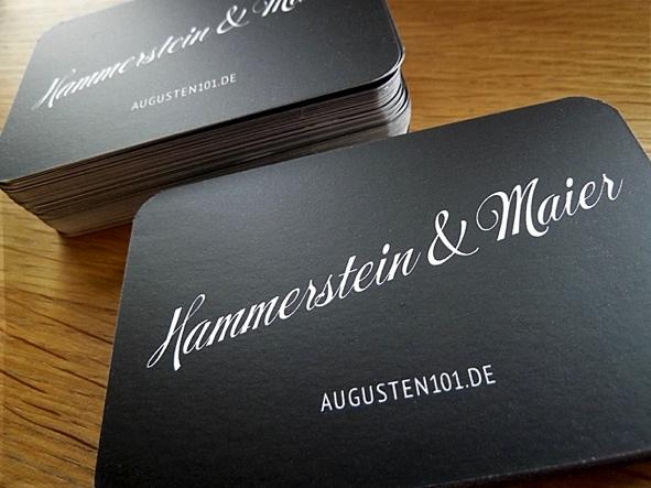 Hammerstein und Maier Visitenkarten