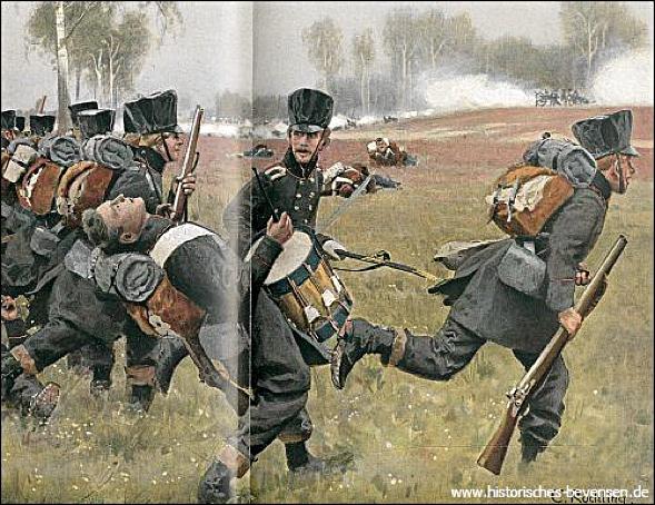 Eleonore Prohaska fällt als Jäger August Renz der Lützower Jäger im Gefecht an der Göhrde