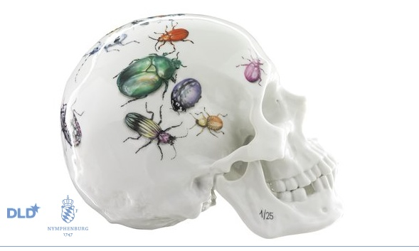 Memento Mori · Skull with Beetle Motive