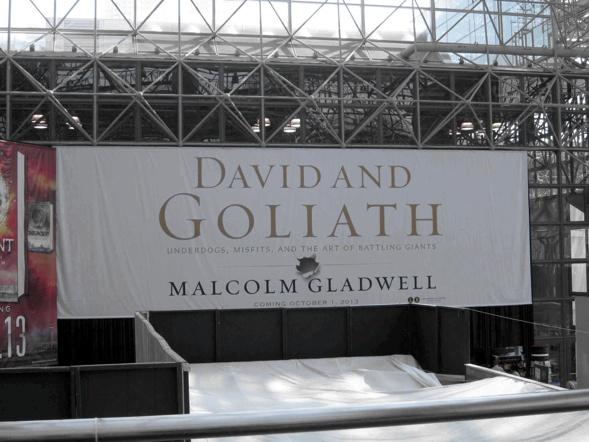 David und Goliat Plakatwand