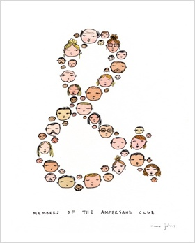 Members of the ampersand club by Marc Johns