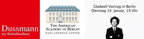 Gladwell Vortrag in Berlin