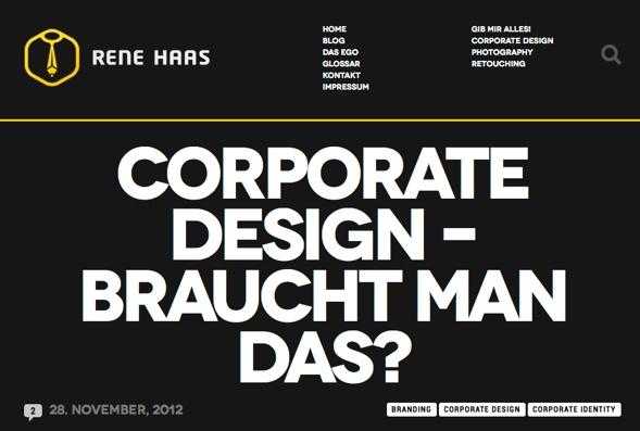 Rene Haas Blogeintrag: Corporate Design - braucht man das?