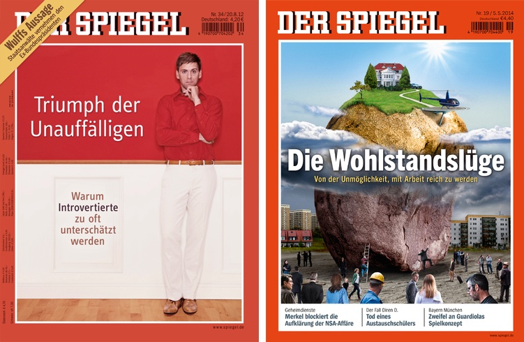 Spiegel Magazin Umgestaltung. Vorher - Nachher.