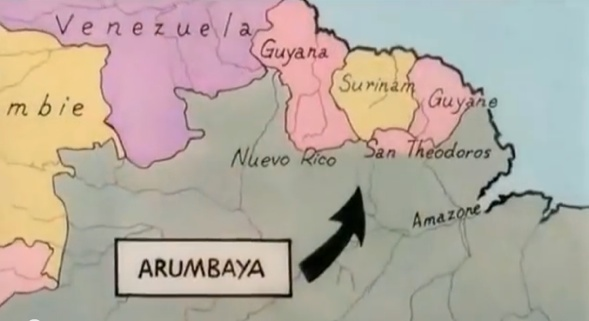 Arumbaya Landkarte ©Hergé