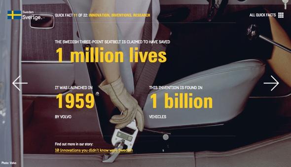 Schwedische Erfindung Sicherheitsgurt Foto: Volvo