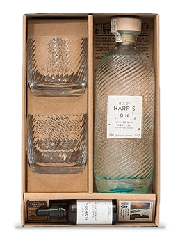 Dedikation  Kombinieren Sie unseren Gin mit zwei passenden Gläsern und einer Tropfflasche mit aromatischen Wasser.  £82,00