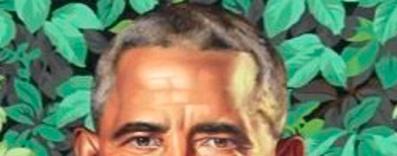 Die obere Kopfhälfte ist die von Obama, wenn auch etwas streng.