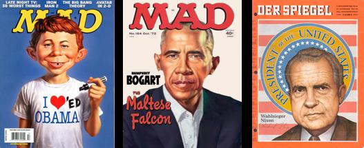 Illustrierte Magazintitel, MadMag, Fake, Spiegel.