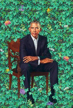 Kehinde Wiley's kontemporäres Porträt von Barack Obama