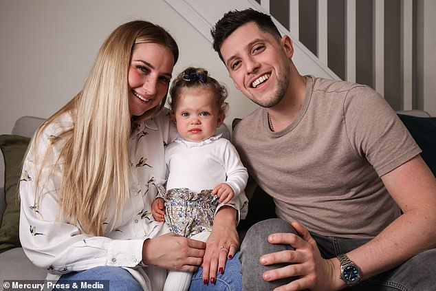 Alba's engaged parents,Alejandra Garcia, 26, and Danny Butler, 30, from Lancashire, were told their baby had a 50 per cent chance of survival