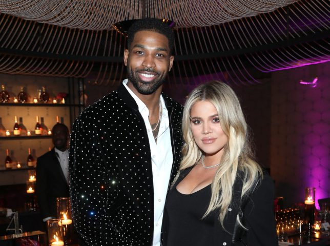 """LOS ANGELES, CA - FEBRUARY 17: Tristan Thompson and Khloe Kardashian attend the Klutch Sports Group """"More Than A Game"""" Dinner Presented by Remy Martin at Beauty & Essex on February 17, 2018 in Los Angeles, California. (Photo by Jerritt Clark/Getty Images for Klutch Sports Group)"""