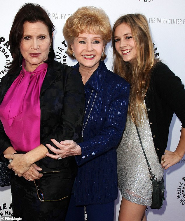 She knew it was coming:Debbie Reynolds had a premonition that her daughter Carrie Fisher was going to die. Seen with Carrie and Carrie's daughter Billie Lourd in 2011