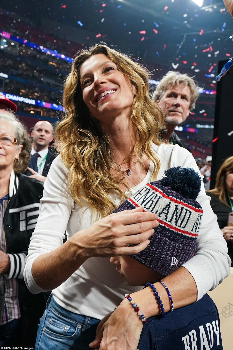 Mixed emotions: While the supermodel is a supportive spouse, she's admitted her reservations about her husband heading back into the huddle year after year