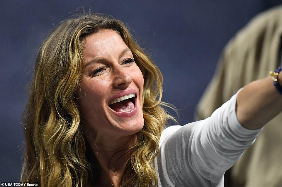 Spirited: Prior to Brady, Gisele was romantically-linked to Oscar-winner Leonardo DiCaprio and actor Josh Hartnett