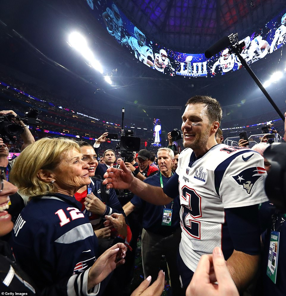 Cerebral: Brady last year said of his mother, 'I think any family that has dealt with cancer realizes the challenge it is not only at that moment, but as it continues to be'