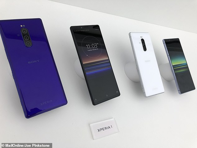 The Japanese giant released three phones with a unique screen ration of 21:9 which is aimed at displaying TV shows and films in the way it is shown in cinemas. Pricing and release dates for the 1 (pictured) have not been released