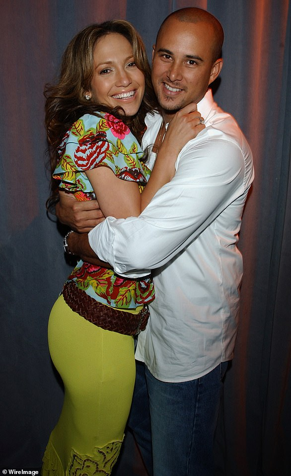 Short-lived marriage: In late 2000, she met Chris Judd, 51, a dancer and songwriter, when he directed her Love Don't Cost A Thing music video. The two were quickly inseparable, and married on September 29, 2001. By June of 2002 they had split, and the divorce was finalized in 2003 (pictured in 2001)