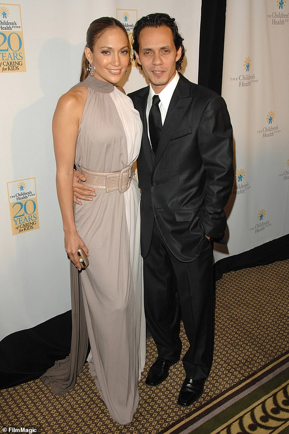 Long-lasting: Following the near-marriage to Ben, Jennifer began her longest relationship to date with Latin singer Marc Anthony, 52 (pictured in 2007)