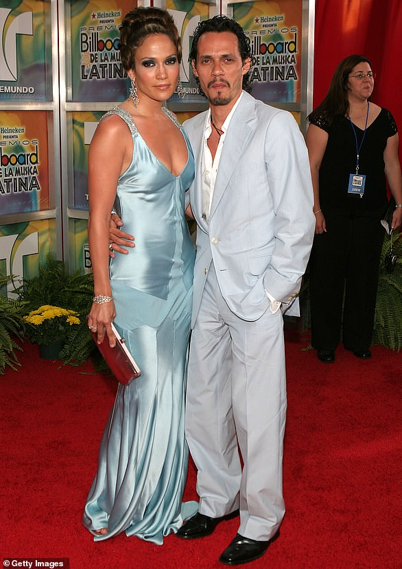 Growing family: He became her third husband when the two married in 2004, less than a year after her split from Ben. In 2008, she and Marc welcomed twins, Maximilian and Emme, now 13 (pictured in 2005)