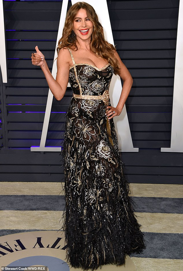 More recent: The actress gave a thumb's up when at the Vanity Fair Oscar party in Beverly Hills in February