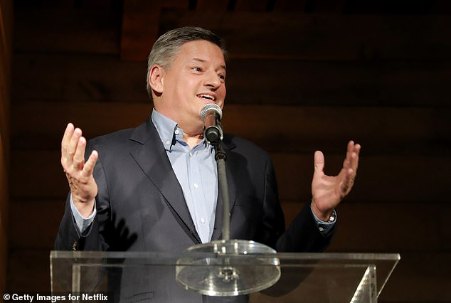 Netflix has long kept their audience numbers of who is watching their original content secret. However, at their quarterly earnings report last night, Netflix's chief officer Ted Sarandos, pictured here at an event in March, said he would be would be 'rolling out more specific data'