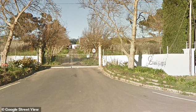 Louisenhof Wine Estate in Western Cape, South Africa - which was owned by Mr Smit