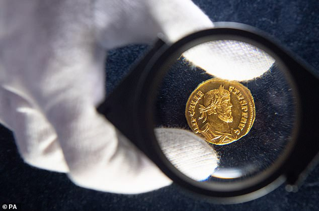 The 30-year-old finder initially thought the coin was fake due to its condition until it weighed in at a hefty 4.31 grams - confirming its provenance. It dates back to 293AD and the reign of Emperor Allectus - the first Brexiteer who took Britain out of the Roman Empire
