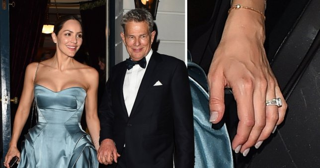 Katharine McPhee and David Foster at wedding reception in London
