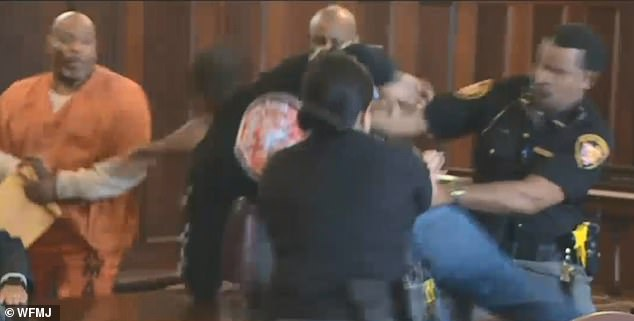 Just as the victim's daughter was about to make a victim impact statement before the court, her brother lunged at Williams and was quickly followed by a second brother who had to be tased by deputies