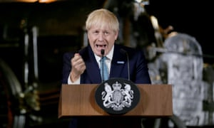 Boris Johnson delivers a speech on his domestic priorities in Manchester