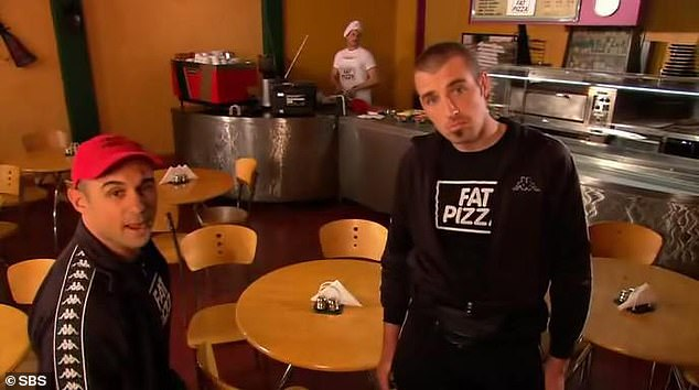 The newly rebooted series will see Jeff (left) reprises his role of Pauly Falzoni, former pizza delivery boy now boss, trying to rebuild the infamous Fat Pizza restaurant in the notorious suburb of Hashfield