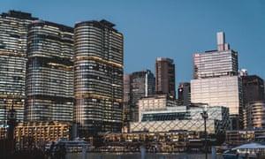 Barangaroo development in Sydney Harbour