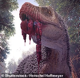 An artist's impression of T. rex
