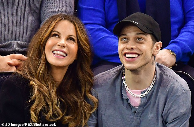 Not to be:Kate hit the headlines earlier this year for her now-ended romance with 25-year-old Saturday Night Live funnyman Pete Davidson (pictured May 2019)