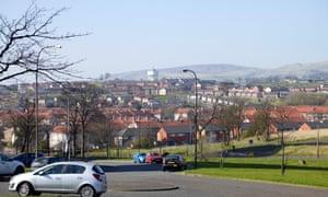 Housing estate in Drumchapel, Glasgow.