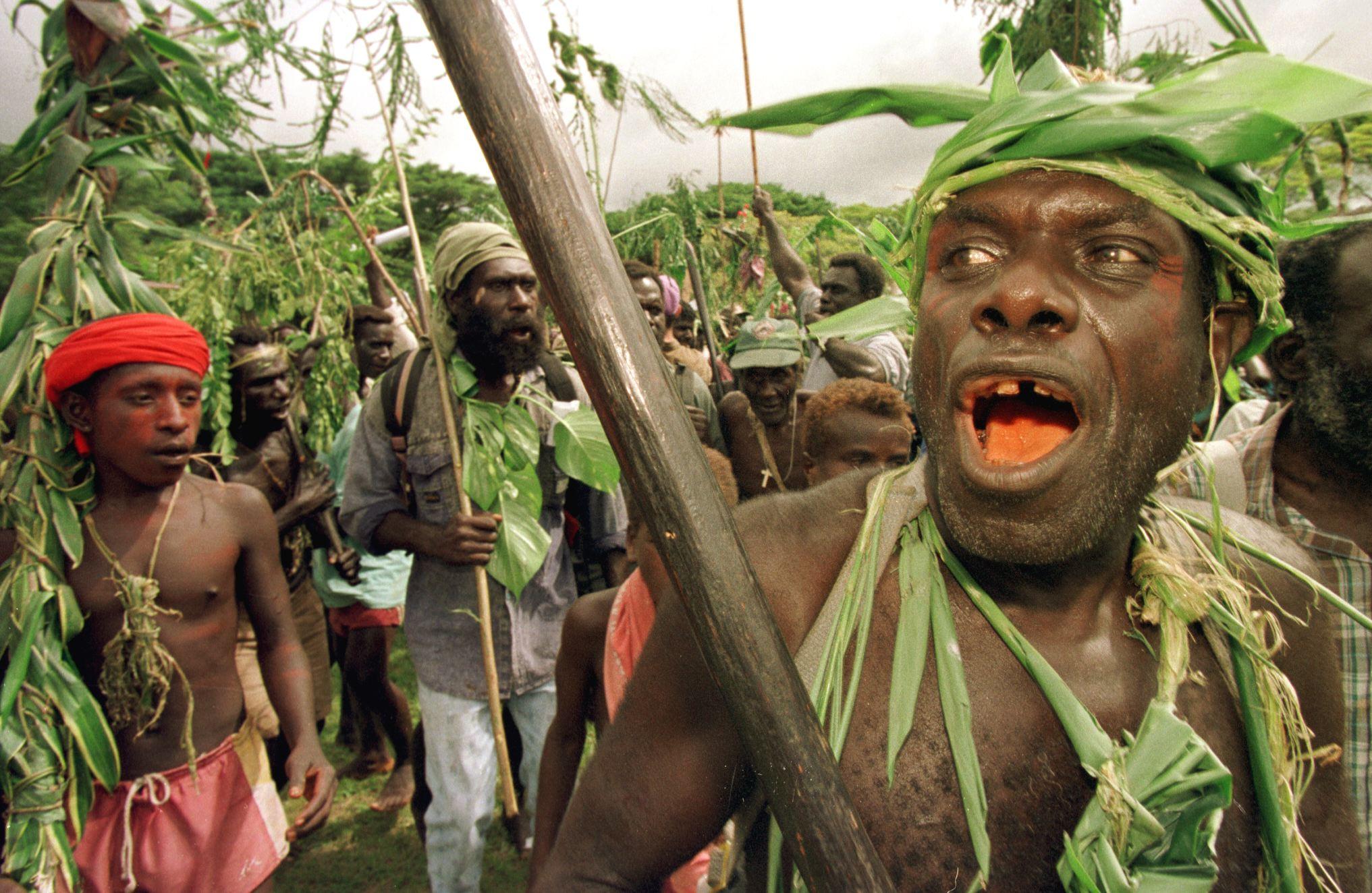 Bougainville guerrilla fighters
