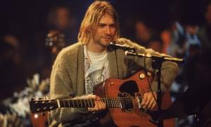 Kurt Cobain on MTV Unplugged.