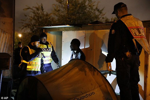 All of those living in the squalid camp will be offered shelter in nearby gyms and community centres, as well as the chance to apply for asylum in France